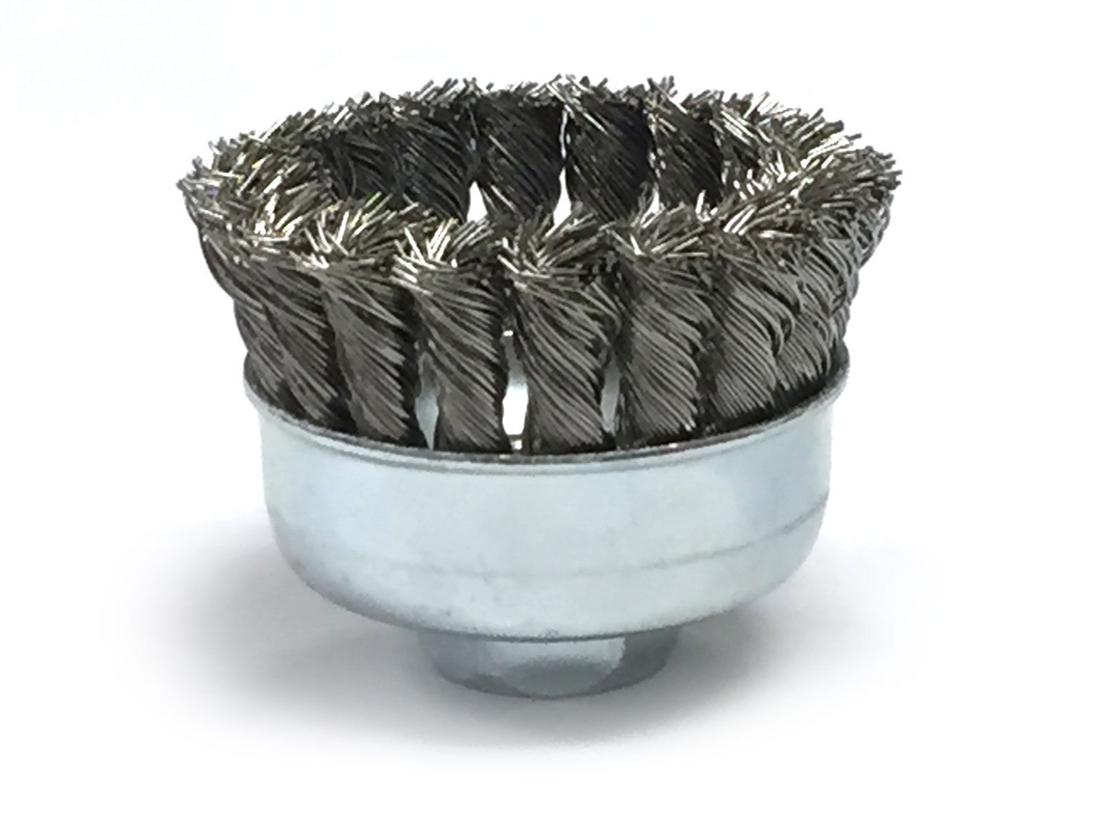 """2-3//4/"""" Dia Knot Style Cup Brush Stainless Steel Wire"""